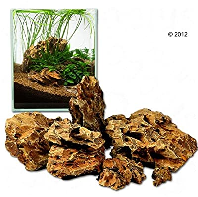 Aquarium Dragon Stone Rock Decor - Scaly, Greenish Surface, Asian Style Rock - Creates An Amazing Aquarium Landscape - Ohko Rock (80 cm Set: 11 natural stones, approx. 7 kg) from Dragon Stone
