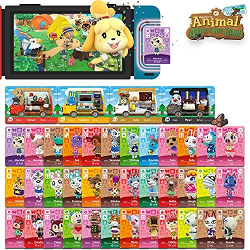 40 Stück ACNH NFC Mini-Kartenpaket für Animal Crossing New Horizons Serie 1-4 für Switch / Switch Lite / Wii U (Set A # 1-36 + RV # 1-4)