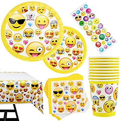 Emoji Decorations For A Birthday Party  from m.media-amazon.com