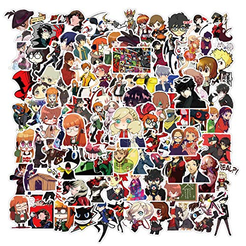 Persona 5 Adesivi 100 pz Giapponese Cool Anime Adesivi Impermeabile Vinile Estetico per Computer Portatile Idrofiaschetta Bottiglia di Acqua Skateboard Bagagli