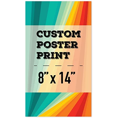 wall26 Custom Poster Prints, Personalized Pictures Photos to Vinyl, Durable and Waterproof 8x14 inches