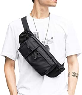 کیف بزرگ کمر ضد آب سیاه و سفید بسته Fanny برای مردان کیسه کمربند کیف دستی کمربند کیسه ای با بند قابل تنظیم ، بسته سبک Fanny سبک وزن برای ورزش تناسب اندام تمرین سفر سفر کار
