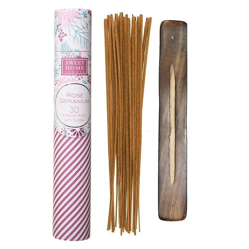 本能秘密の物思いにふけるSweet Home Scents プレミアムスパ お香 30本 木製ホルダー付き ギフト包装用チューブ入り