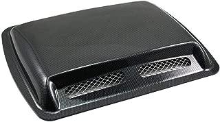 Universal ABS Car Auto Decorative Air Flow Intake Scoop Turbo Bonnet Vent Cover Hood (Carbon fiber)
