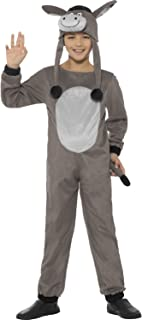 Boys Girls Grey Deluxe Cosy Donkey Christmas Festive Animal Nativity Fancy Dress Costume Outfit 4-12 Years