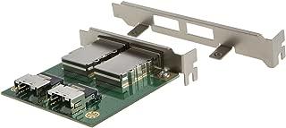 CableCreation Dual Mini SAS 26pin SFF-8088 to 36pin SFF-8087 Adapter in PCI Card Bracket