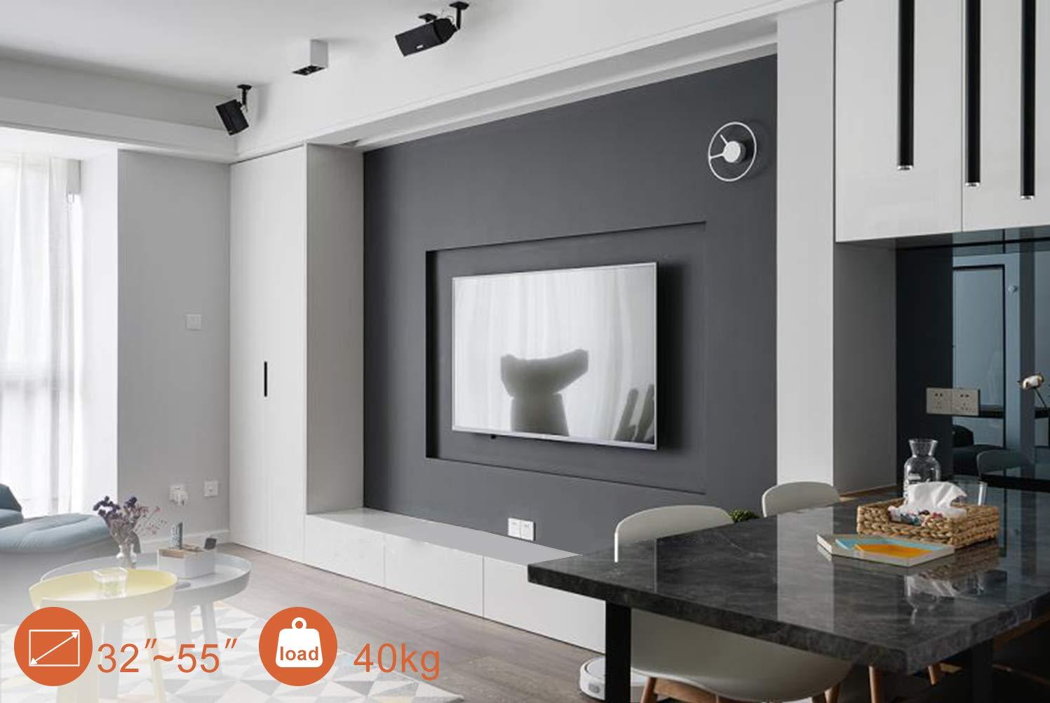 PUTORSEN® Soporte TV de Pared para la Mayoría de los Televisores LED, LCD, OLED, Plasma Plana y Curvada de 32-55 Pulgadas: Amazon.es: Electrónica