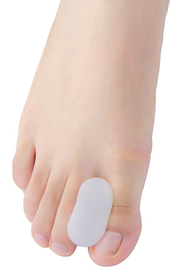 つかの間テナント摩擦Povihome 足指衝撃ストッパー, 足指セパレーター,外反母趾 サポーター 矯正 バニオン 5ペア,柔らかゲルでやさしくサポート(M)