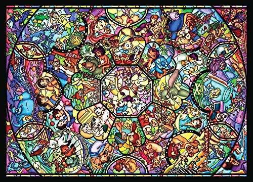 Mulore-1000 Pieces Wooden Puzzle 3D Jigsaw For Adults Parent-Child Toy Photo Diy Brain Development Decompress Assembly Game Birthday Gift,Stained Art All Stars Stained Glass
