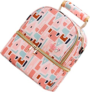 TOYANDONA Breast Pump Bag Backpack Nylon Mommy Bag Backpack Heat Resistant Fresh Keeping Bag Diaper Bag Casual Backpack fo...