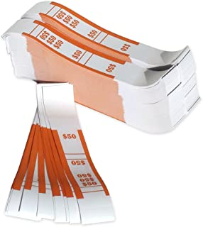 The Coin-Tainer Co. $50 Currency Band, Orange, 1000 Count (400050)