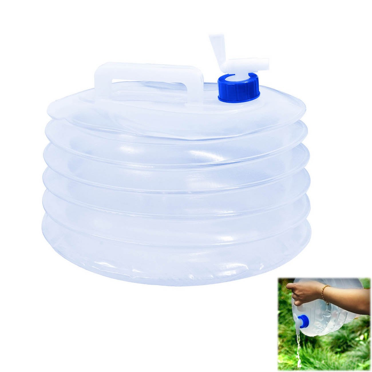 Outdoor 10L Drinking Water Bucket Storage Tank Carrier Container