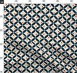 retro, Blüte, Kreis, Moderne Stoffe - Individuell Bedruckt