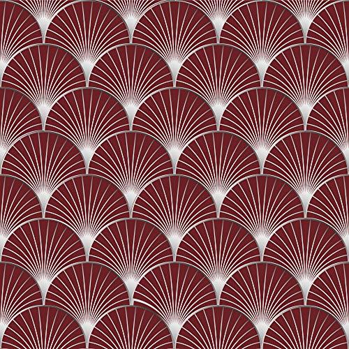 Zelfklevende decoratie voor tegels 268524 Armorea wijnstokken [6 tegel], rood, 15 x 15 cm
