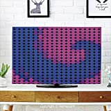 YKJL Monitor Dust Cover Protective Case LCD TV Dust Cover Universal TV Dustproof Cover Cloth Microfiber Cloth Easy to Cover Your TV Living Room Decoration Spires-65 Color3
