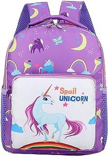 Zaino Bambina,BETOY Unicorno Zaini per Bambini, Zaino per scuola materna Bambino piccolo Stampa del fumetto Zaino con tasche