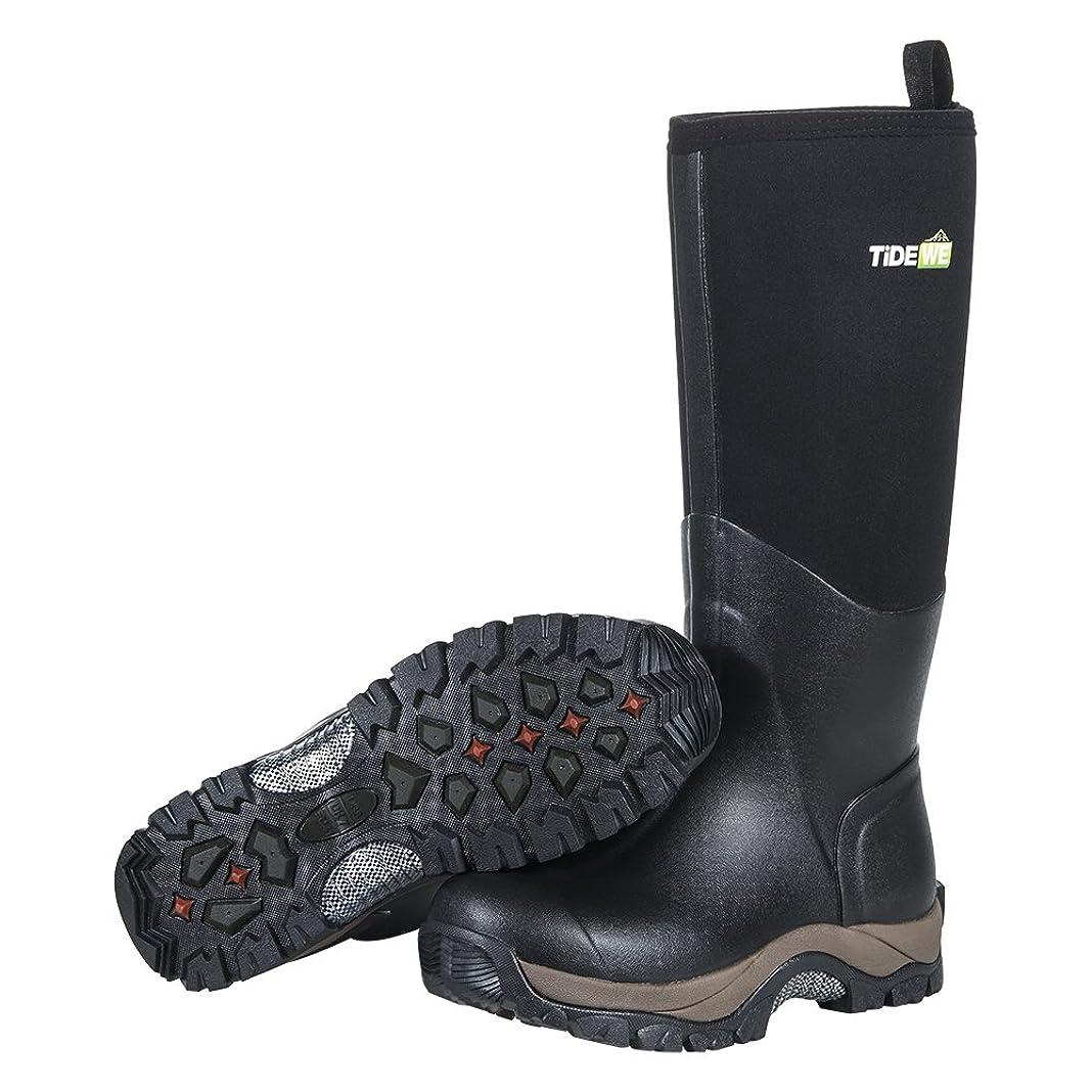 納税者植物の言い聞かせるTideWe(タイドウィー)アウトドアブーツ ネオプレーン防寒ブーツ ラジアルソール 作業靴 男女兼用