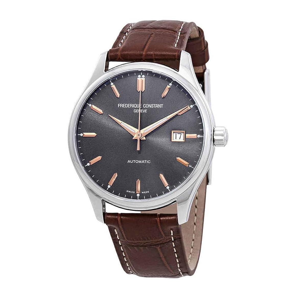 Frederique Constant Classics Grey Dial Leather Strap Men's Watch FC-303LGR5B6