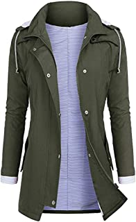 Womens Rain Jacket with Lined Waterproof Raincoats Outdoor Active Travel Hiking