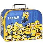 alles-meine.de GmbH Koffer / Kinderkoffer -  Minions - Ich einfach unverbesserlich  - incl. Name - Pappkoffer - für Kinder Jungen & Mädchen - Geschenkekoffer - Karton - Minion ..
