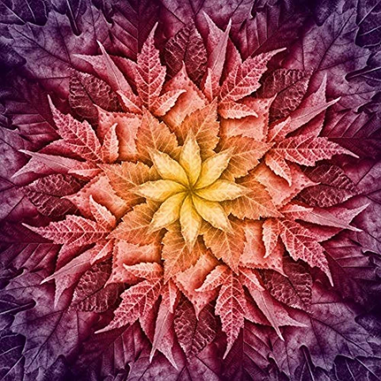 Dream Big Leaves - Mulberry - Digital Panel -Large Flora - r4617-428 l -by Hoffman Fabrics