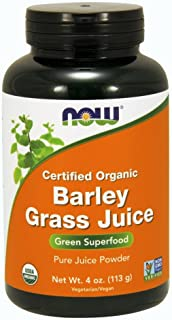NOW Supplements, Organic Barley Grass Juice, Powder with naturally occurring Nutrients, Chlorophyll, Vitamins, Minerals an...