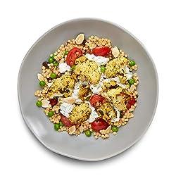 Amazon  Meal Kits, Chermoula Roasted Cauliflower with Pearl Couscous & Cilantro Yogurt Sauce , Serve