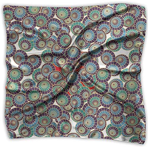 Uridy Sciarpa quadrata in raso Modello a ombrello in seta come bandane leggere Scialle con collo scialle Foulard