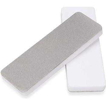 DMD Mini Double Side Whetstone-Diamond Ceramic Pocket Knife Sharpener | Outdoor Knife Sharpener | Diamond Abrasive Tools