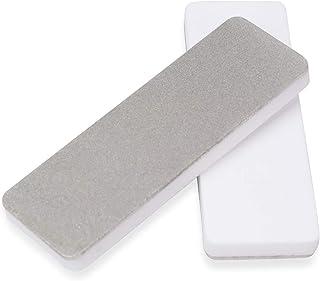 DMD Mini afilador de cuchillos de cerámica de doble cara con diamante para caza, afilador de cuchillos al aire libre | Herramientas abrasivas de diamante