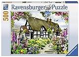 Ravensburger-14709 0 Puzzle 500 Piezas English Cottage, Multicolor (147090)