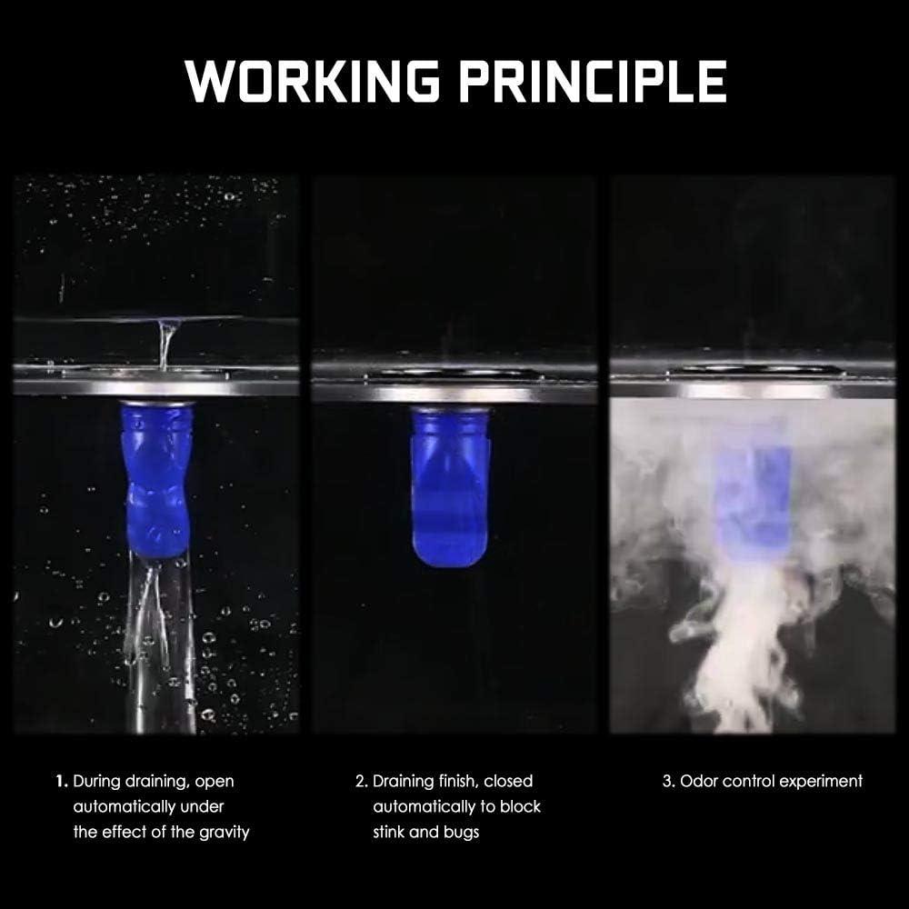 Waterless Trap Seal One Way Drain Valve Sewer Core LAMONDE Shower Floor Drain Backflow Preventer