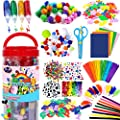 FunzBo Arts and Crafts Supplies for Kids - Craft Art Supply Kit for Toddlers Age 4 5 6 7 8 9 - All in One D.I.Y. Crafting Collage School Supply Arts Set for Kids by FunzBo