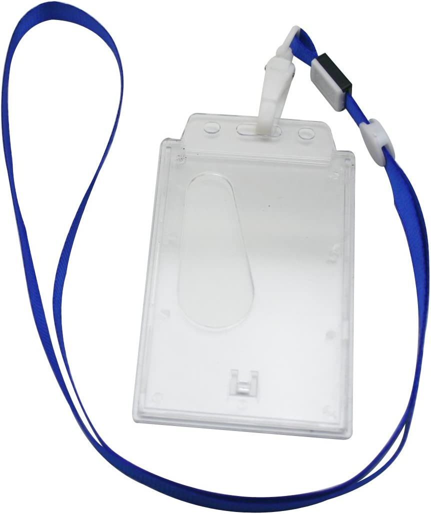 Ailisi New item Vertical Card Holder Neck Strap C Free Shipping New Deep Color Lanyard Blue
