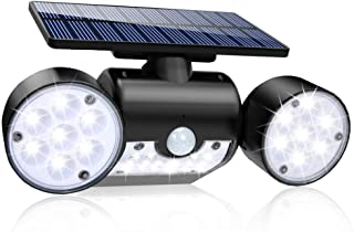 Solar Lights Outdoor, 30 LED Solar Security Lights with Motion Sensor Dual Head..