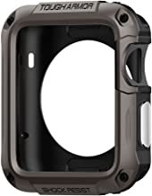 Spigen Tough Armor Designed for Apple Watch Case and Built in Screen Protector for 42mm Series 1 (2015) - Gunmetal