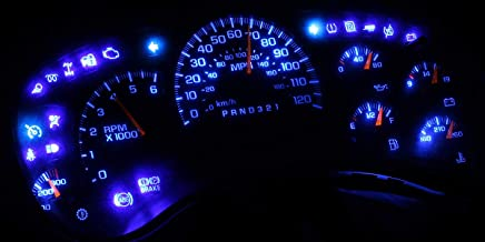 HERCOO Blue LED Light Bulbs for Instrument Gauge Cluster Speedometer Compatible with 2003-2006 Chevy Silverado 2500 3500