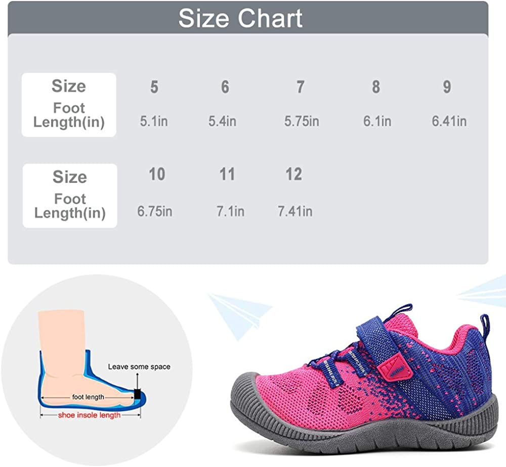 Active Play Boys /& Girls Tennis Shoes okilol Toddler Shoes School Bump Toe Sneaker for Runners