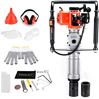 Gas Power T-Post Driver 2 Stroke 33cc Gasoline Pile Driver Kit Air Powerd Post Driver Lightweight Including Accessories