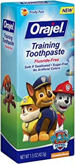 Orajel Toddler Training Toothpaste Fruity Fun Flavor - 1.5 oz (Pack of 3)