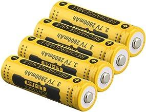 3.7V 2800mah 14500 batterij Li-ion oplaadbare batterij LED zaklamp batterij-4 stks