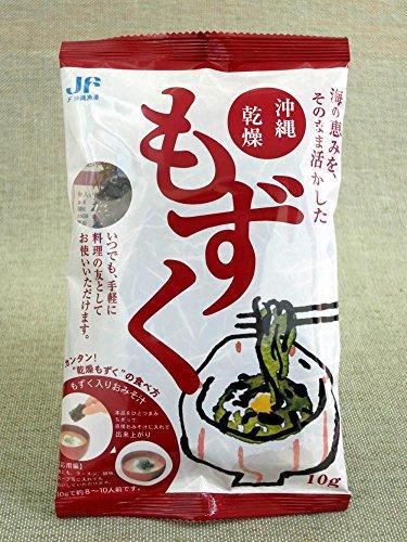 JF沖縄漁連 沖縄乾燥もずく 10g×6P 簡単レシピ付 いつでも手軽に 料理の友として