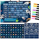 Behavior Chart for Kids,Planet Magnetic Chore Chart for Kids Reward Chart at Home Daily,Responsibility Chart for Encourage Learning, Potty Training, Wipe Clean, Bedtime, School Work Navy