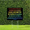 """DesignThatSign in This House We Believe Equality, Human Rights, Black Lives Matter 18""""x24"""" Yard Sign with Stake"""
