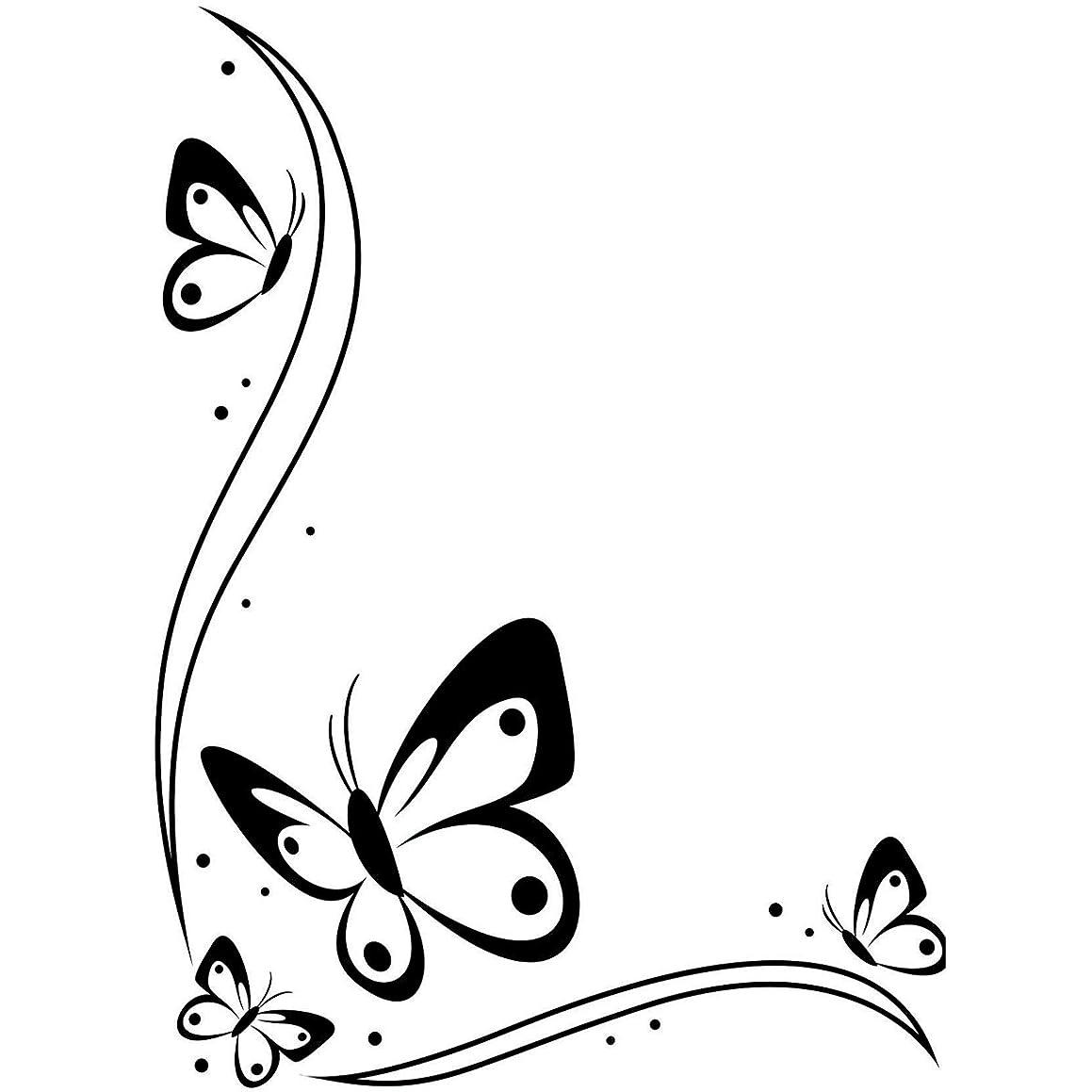 Darice 1218-107 Embossing Folder, 4.25 by 5.75-Inch, Butterflies in The Corner Design