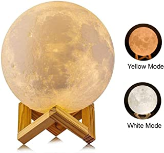 LYLYFAN 3D Moon Lamp, 3D Moon Lamp with Stand 5.9 inch Moon Lamp Lunar Moon Lamp Night Light for Kids