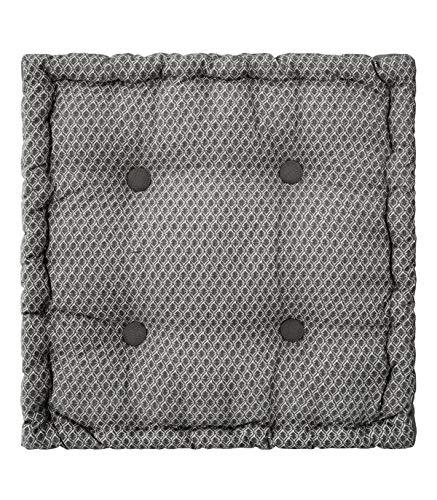 ATMOSPHERA Otto-Bodenkissen, 40 x 40 x 8 cm, Grau, grau, cm