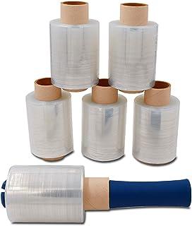 Verpacking Mini-Stretchfolie 23my stark 100mm x 150m 6 Rollen  1 Abroller reißfest, dehnbar & zuverlässig