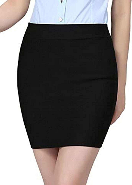 S-7 CLJJ7 Women's High Waist Package Hip Short Skirt