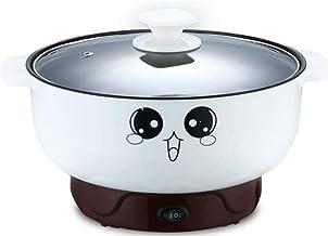 Poêle électrique antiadhésive, cuisinière multifonction 4 en 1 avec couvercle en verre Hot Pot électrique en acier inoxyda...